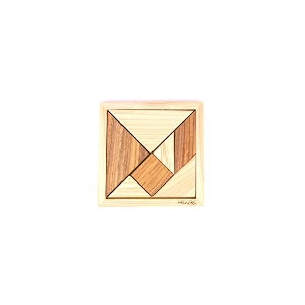 HD-008 木製パズル 国産桧 組み合わせパズル タングラム pulsejapan