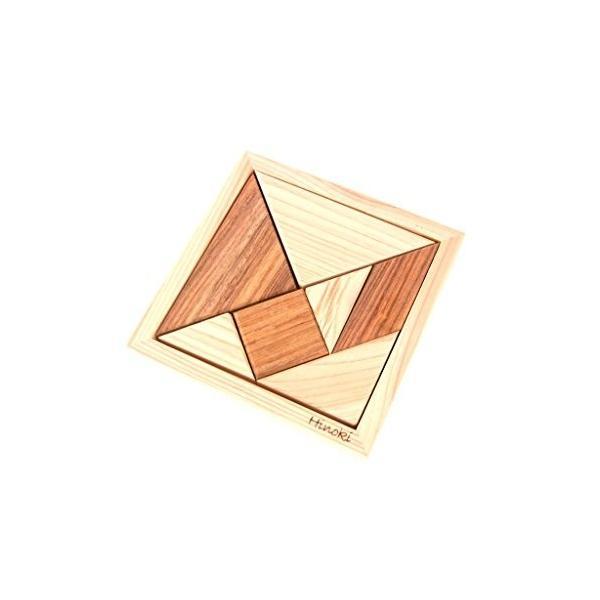 HD-008 木製パズル 国産桧 組み合わせパズル タングラム pulsejapan 02