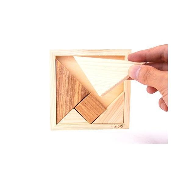 HD-008 木製パズル 国産桧 組み合わせパズル タングラム pulsejapan 04