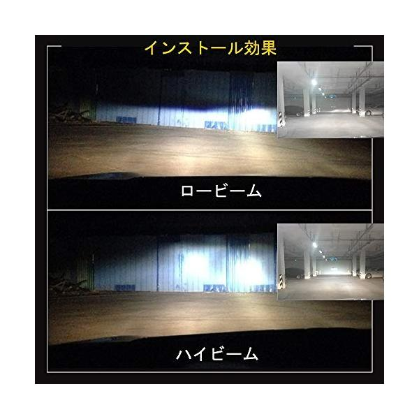 HSUN 車用 H4 9003 LED ヘッドライト バルブ,hi/lo車検対応,DC9V-32V車用 50W(25Wx2) 8000LM(4000L|pumpkintetsuko83|06