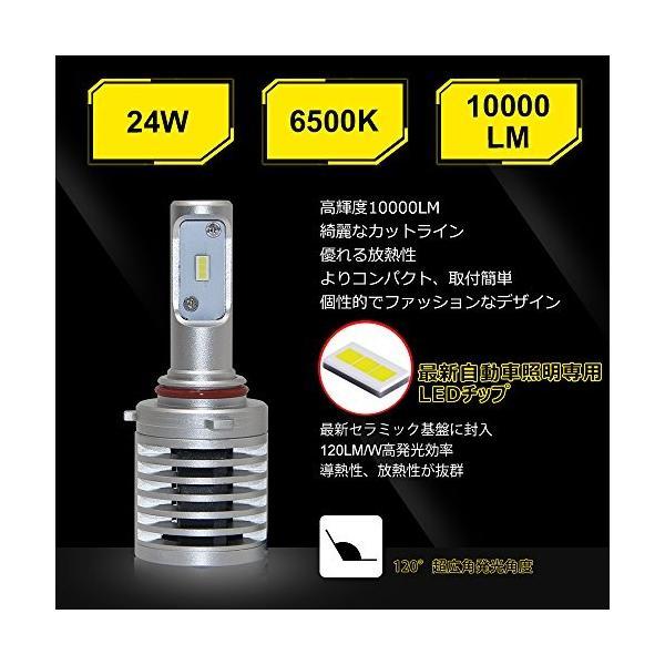 OPPLIGHT HB3 LED ヘッドライト バイク 車 車検対応 hb3 led ハイビーム ホワイト 6500K 10000LM 光軸調整可能|pumpkintetsuko83|04