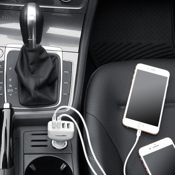 Amazonベーシック シガーソケット カーチャージャー 車載充電器 Apple&Android用 USB 4ポート 9.6A 48W ブラック|pumpkintetsuko83|03