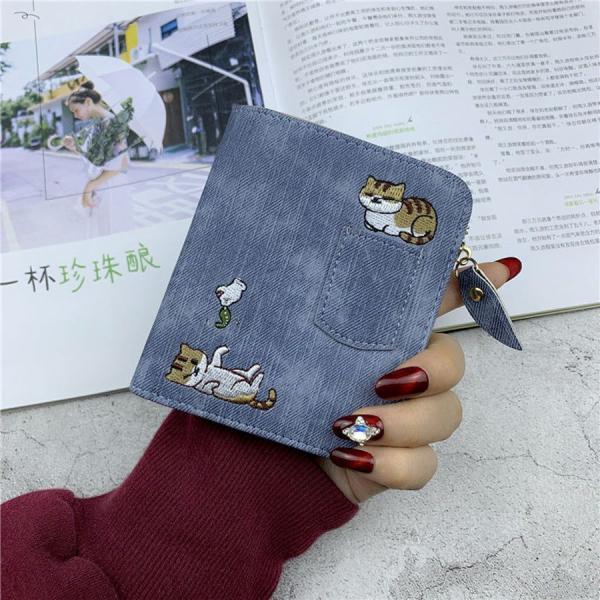 財布 サイフ さいふ レディース 猫 刺繍 長財布 カード収納 人気 コインポケット おしゃれ 人気