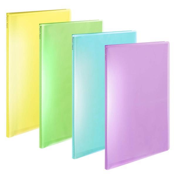 プラス ファイル クリアファイル A4縦 20ポケット Pasty petit フルーツスカッシュ 4色組|punipunimall