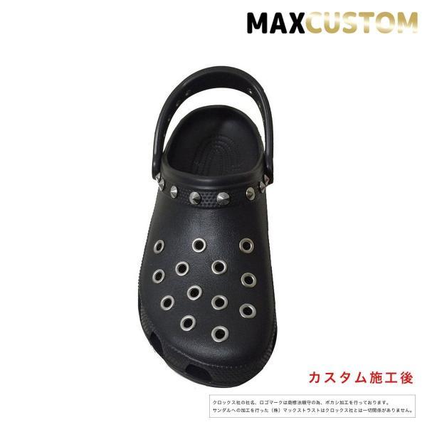 クロックス パンク カスタム クラシック(ケイマン)黒 ブラック crocs custom サンダル メンズ レディース|punkcrocs|03