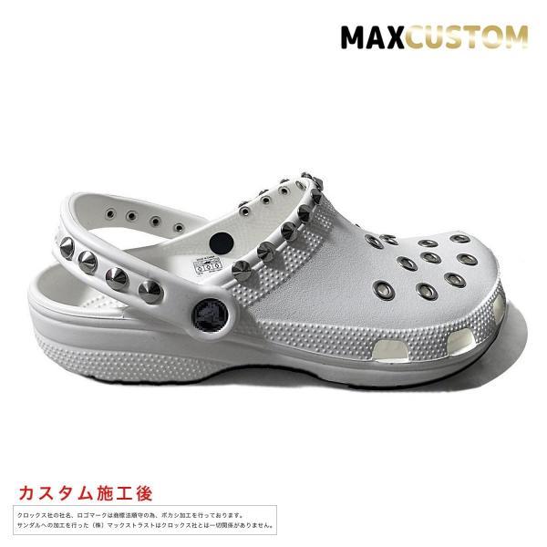 クロックス パンク カスタム クラシック(ケイマン) 白 ホワイト crocs custom サンダル メンズ レディース|punkcrocs|02