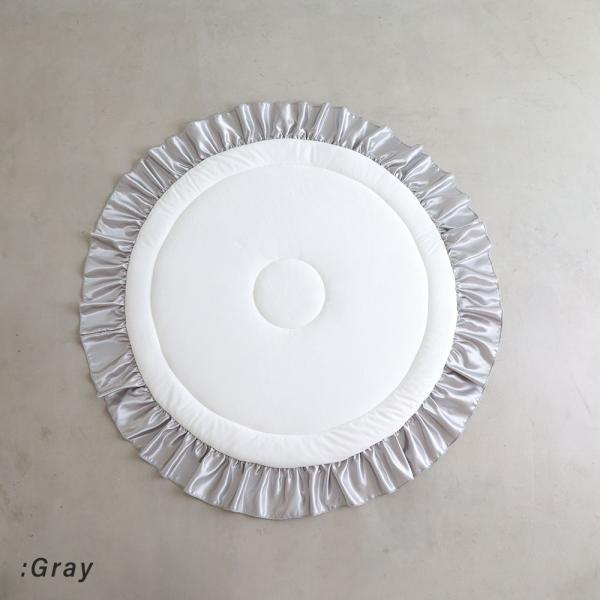 サニーマット フリル ロゼット ベビー ラグマット ごろ寝アート 寝相アート よちよちマット プレイマット ベビーマット はいはい 赤ちゃん 出産祝い puppapupo 04