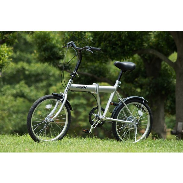 ACTIVE911 ノーパンクFDB20 6S / 20インチ折畳自転車6段ギア シルバー MG-G206N-SL|puraiz|02