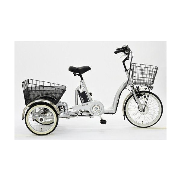 【メーカー直送】eisanbike 大人用電動アシスト三輪自転車 CES-DF2017 8.4Ah|puraiz