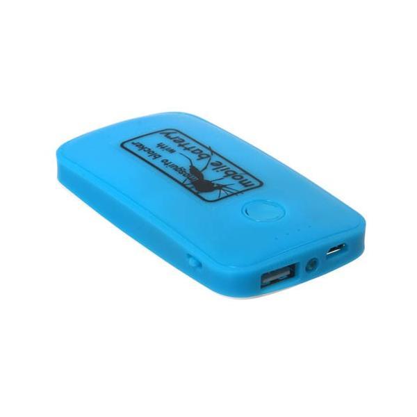 サンコー 蚊よけ付きモバイルバッテリー ブルー USBTMQ5B ポケモンGO ASN