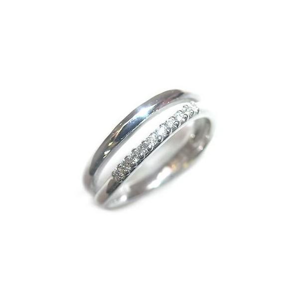 ダイヤモンド指輪 ピンキーリング ピンキー リング ホワイトゴールド ダイヤモンド ファランジリング 安い