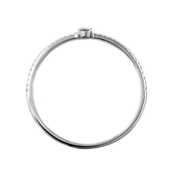 指輪 ダイヤモンド 18金 金 18K 18k ホワイトゴールド ミル打ち アンティーク デイリー カジュアル 安い