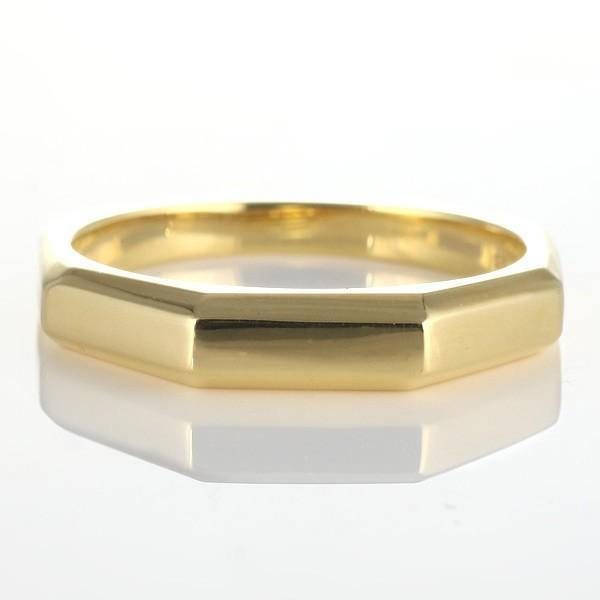 ペアリング 指輪 ゴールド イエローゴールド 八角 人気 ファッション デザイン 安い
