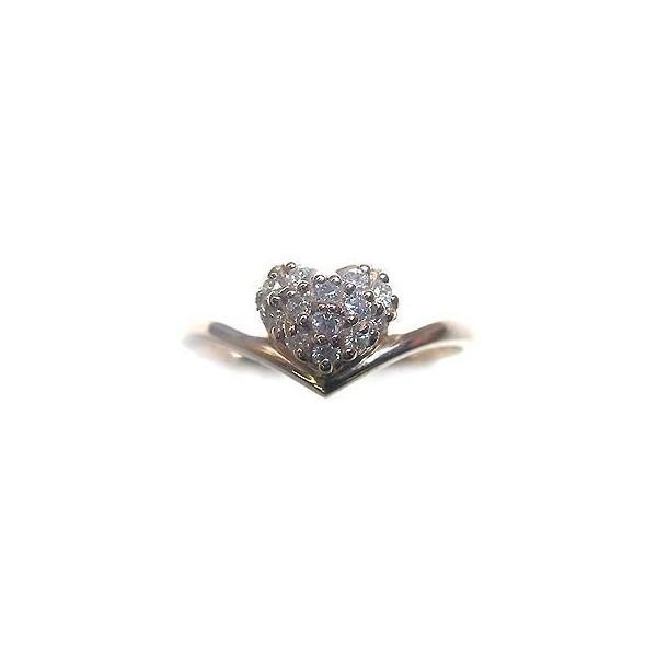 ダイヤモンド指輪 ピンキーリング ピンキー リング ピンクゴールド ダイヤモンド ハート ファランジリング 安い