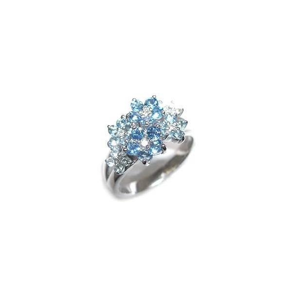 アクアマリン 指輪 K18ホワイトゴールド アクアマリンリング 安い