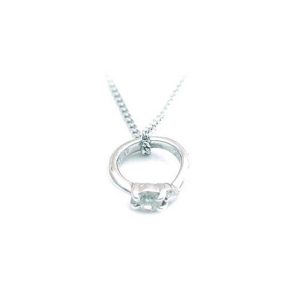 ネックレス レディース 天然石 4月誕生石 一粒 ダイヤモンド ネックレス ベビーリング 安い【今だけ代引手数料無料】