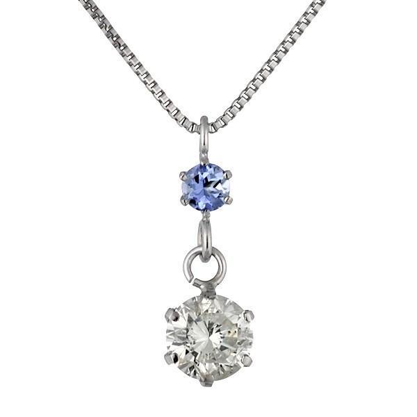 ペンダント ダイヤモンド ネックレス プラチナ ダイヤモンド ペンダント ダイヤモンド ダイヤ 0.3カラット レディース タンザナイト 誕生日プレゼント 安い