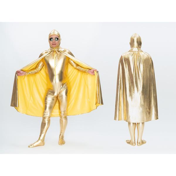 超金 超銀マント マント サテン フード 学園祭 文化祭 お誕生日 カーニバル|pure2009|02