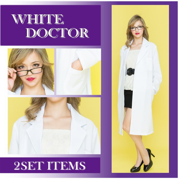 コスプレ ドクター 白衣 ホワイト 医者 ナース|pure2009|04
