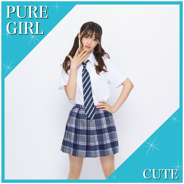 コスプレ チェック ネイビー スカート 定番 制服 pure2009 02