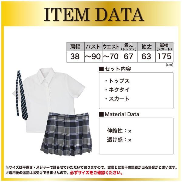 コスプレ チェック ネイビー スカート 定番 制服 pure2009 03