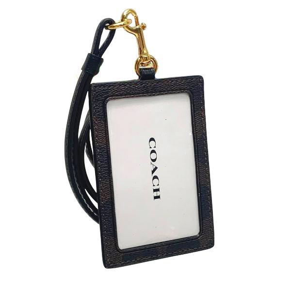 コーチ COACH カードケース レディース 小物 アウトレット シグネチャー PVC ランヤード ID ケース F63274 IMAA8 ブラウン×ブラック|purely|02