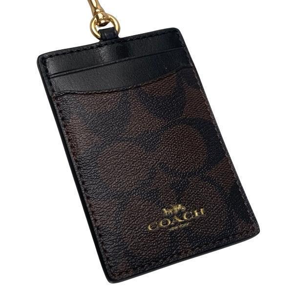 コーチ COACH カードケース レディース 小物 アウトレット シグネチャー PVC ランヤード ID ケース F63274 IMAA8 ブラウン×ブラック|purely|03
