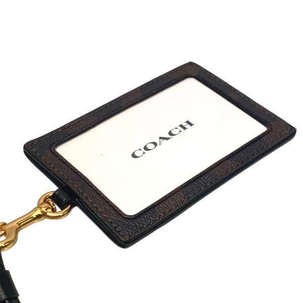 コーチ COACH カードケース レディース 小物 アウトレット シグネチャー PVC ランヤード ID ケース F63274 IMAA8 ブラウン×ブラック|purely|04