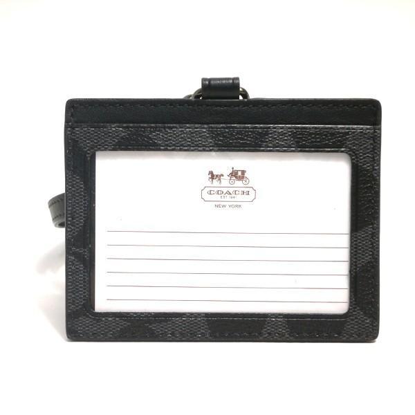 コーチ COACH カードケース 小物 アウトレット シグネチャー ID ランヤード カード ケース F64063 CQ/BK チャコールxブラック purely 02