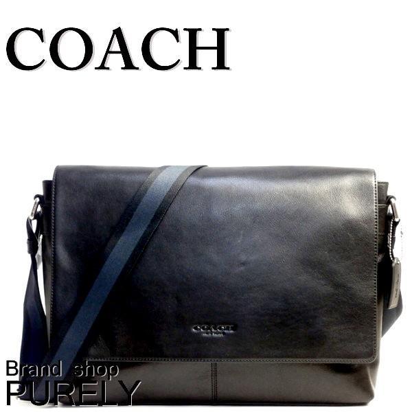コーチ COACH バッグ メンズ アウトレット サリバン スムース レザー メッセンジャー ショルダーバッグ F71726 BLK ブラック|purely