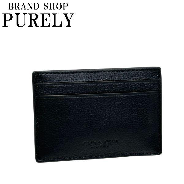 コーチ COACH 全品ポイント2倍 パスケース レディース メンズ 小物 レザー マネークリップ カード ケース F75459 NIBLK ブラック