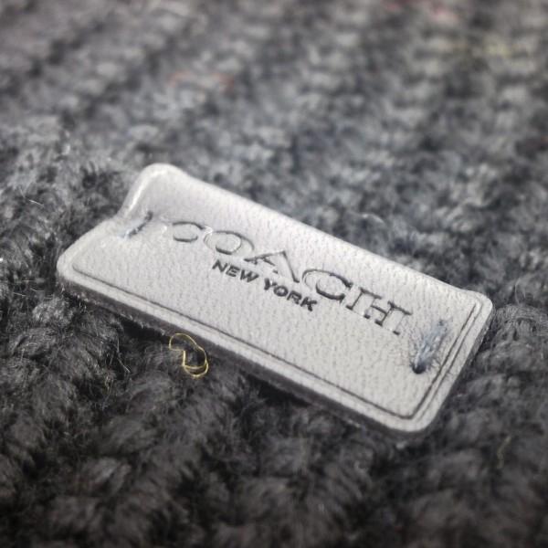 COACH コーチ 帽子 メンズ アウトレット リブ ニット ハット F85140 BLK ブラック|purely|03