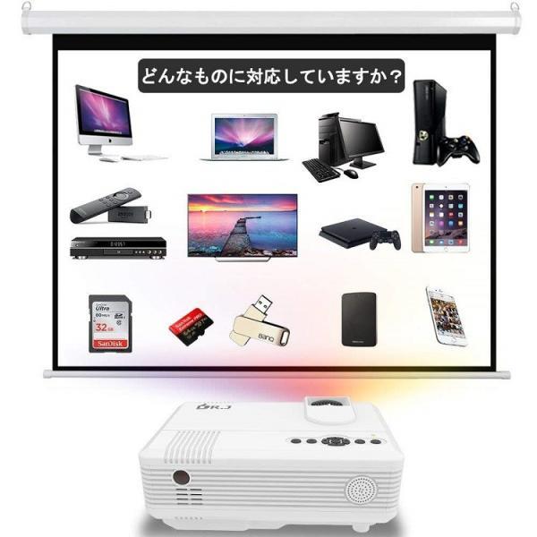 DR.J 2400ルーメン 小型プロジェクター【3年保証】1080PフルHD対応 スピーカーが二つ内蔵 HDMIケーブル付属 台形補正 パソコン/スマホ/タブレット/ゲーム機/DVD