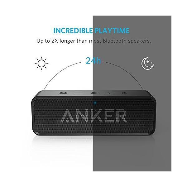 Anker SoundCore ポータブル Bluetooth 4.0 スピーカー (ブラック) 24時間連続再生可能 【デュアルドライバー ワイヤレススピーカー 内蔵マイク搭載】 A3102011|puremiamuserekuto-2|03