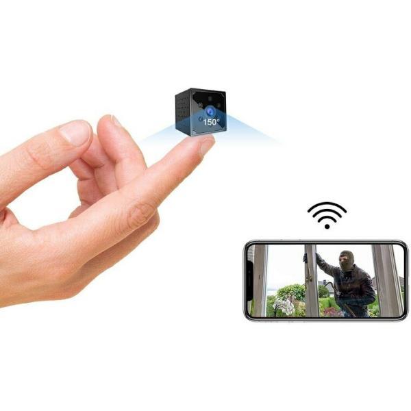 小型カメラ WiFi, 4K HD高画質 スマホ対応Wi-fi長時間録画/録音ワイヤレス監視カメラ電池式屋外/屋内用ミニ防犯カメラ室内 動体検知