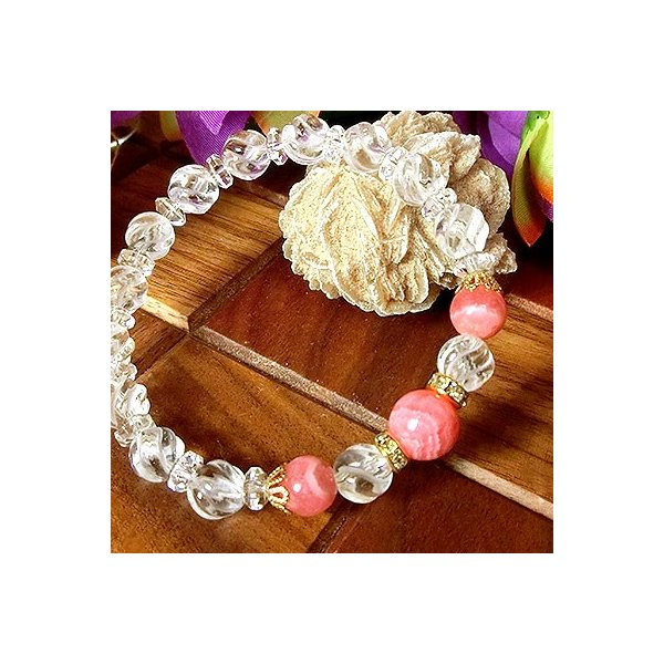 インカローズ(ロードクロサイト) ブレスレット 天然石 パワーストーン ブレスレット ブレス インカローズ ブレスレット