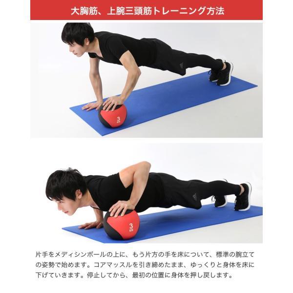 メディシンボール 1kg 2kg 3kg 4kg 5kg ダイエット 筋トレ 器具 腹筋 体幹トレーニング 運動器具 ウエスト|purerise|06