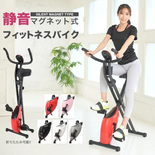 フィットネスバイク 折りたたみ エアロ スピンバイク 有酸素運動 ダイエット器具 ダイエット 器具|purerise