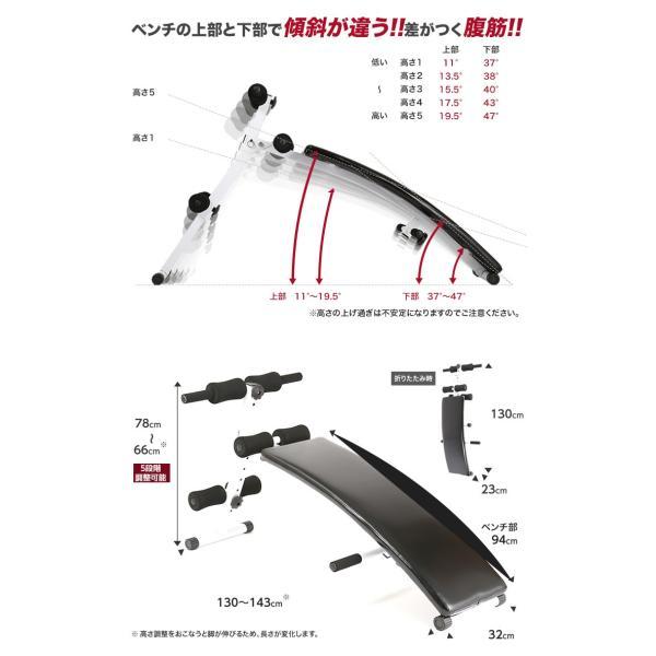 シットアップベンチ アーチ型 腹筋 背筋 筋トレ 器具 トレーニング purerise 03