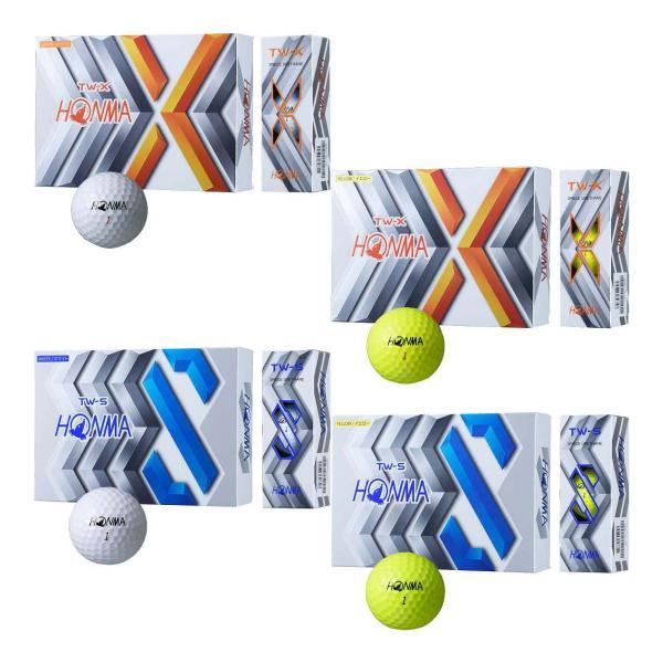 本間ゴルフゴルフボールツアーワールドTW-X/TW-Sボール1ダース2020年モデル