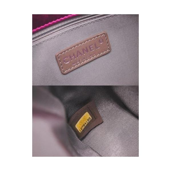 CHANEL シャネル メタリックレザー ショルダーバッグ A46866 レディース ピンク 本革 ココマーク c022