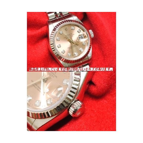 【OH済】ROLEX ロレックス デイトジャスト 10Pダイヤ レディース腕時計 69174G 機械式自動巻 ピンク 6746 purishonten 02