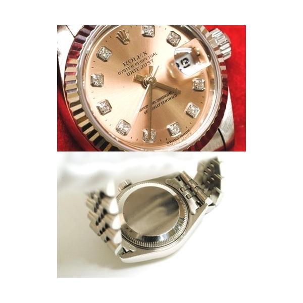 【OH済】ROLEX ロレックス デイトジャスト 10Pダイヤ レディース腕時計 69174G 機械式自動巻 ピンク 6746 purishonten 03