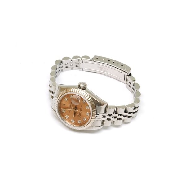 【OH済】ROLEX ロレックス デイトジャスト 10Pダイヤ レディース腕時計 69174G 機械式自動巻 ピンク 6746 purishonten 07