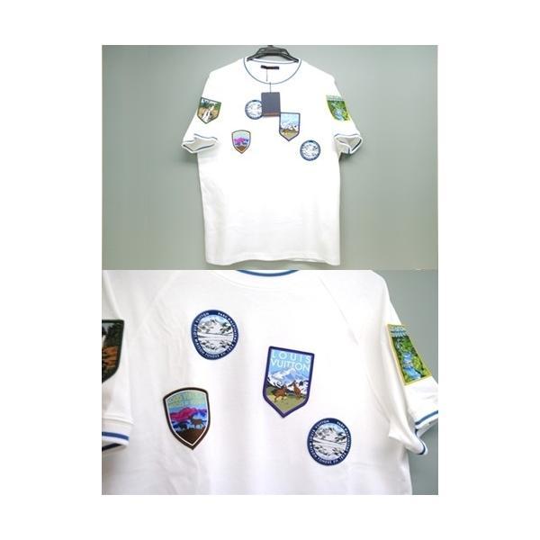 LOUIS VUITTON ルイ・ヴィトン Tシャツ ナショナルパーク・パッチショートスリーブ 1A4JLD クルーネック メンズ Mサイズ 未使用 6779|purishonten|03