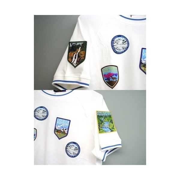 LOUIS VUITTON ルイ・ヴィトン Tシャツ ナショナルパーク・パッチショートスリーブ 1A4JLD クルーネック メンズ Mサイズ 未使用 6779|purishonten|04