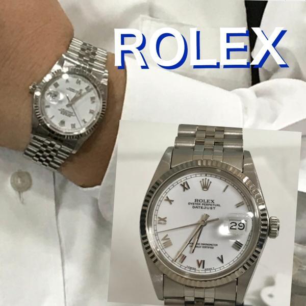 【OH済】ROLEX ロレックス デイトジャスト メンズ腕時計 機械式自動巻き 16014 SS/WG ホワイト 6818|purishonten|08
