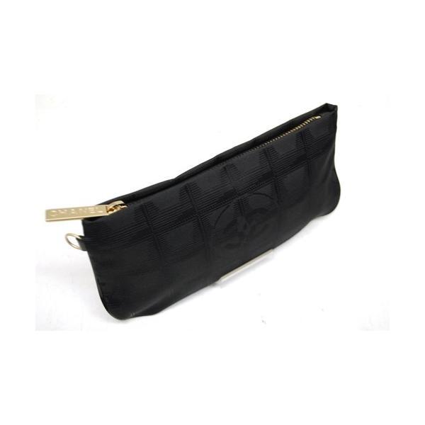 CHANEL シャネル ニュートラベルライン ポーチ ナイロン ブラック レディース バッグ 未使用 6876|purishonten|02