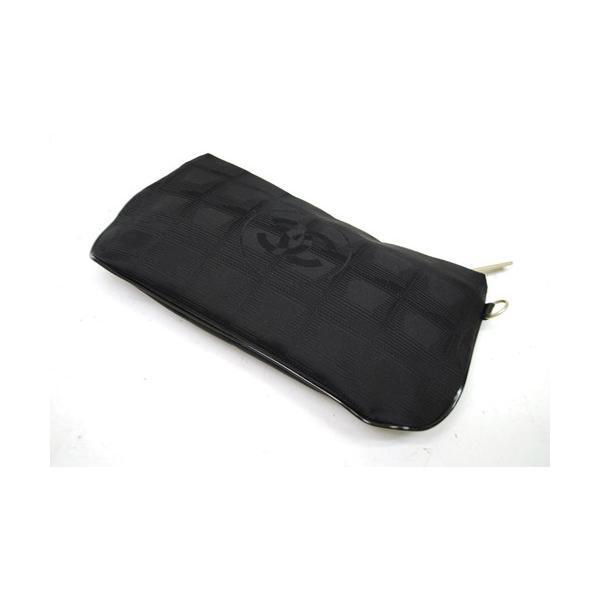 CHANEL シャネル ニュートラベルライン ポーチ ナイロン ブラック レディース バッグ 未使用 6876|purishonten|03