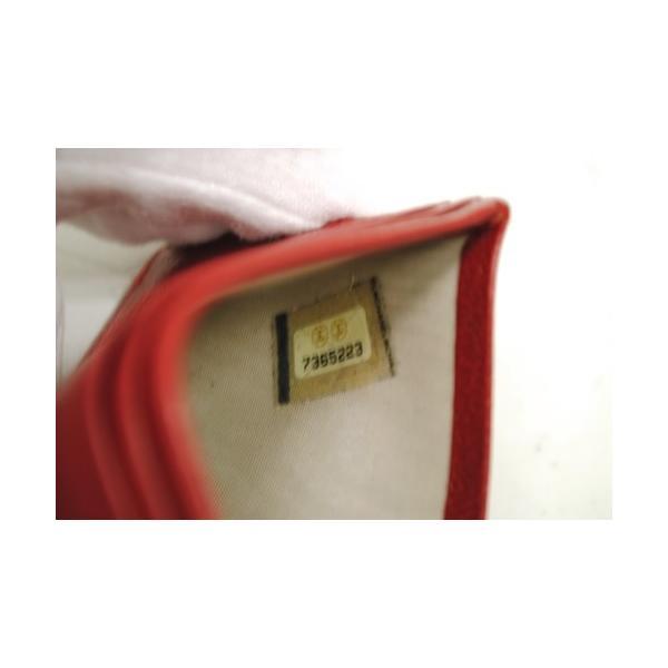 CHANEL シャネル ココマーク カードケース パスケース 定期入れ レッド レディース 6884|purishonten|05